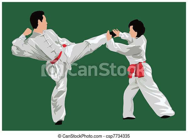 Kung fu fighting - csp7734335