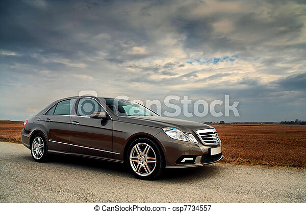 Front view of a Luxury car - csp7734557
