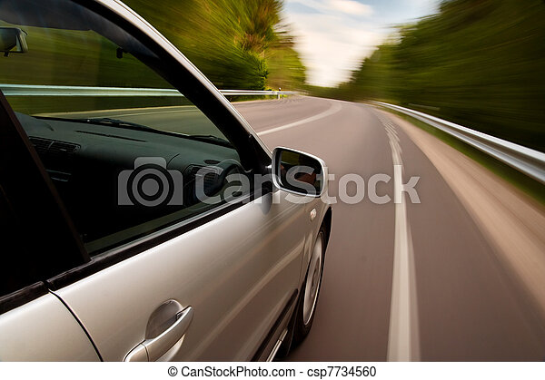 Car driving fast - csp7734560