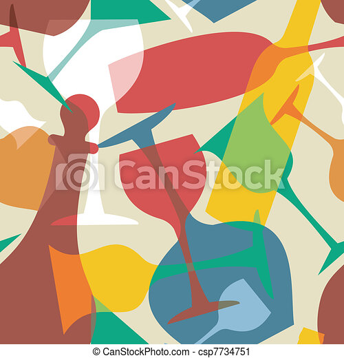 Transparency cocktail pattern background - csp7734751