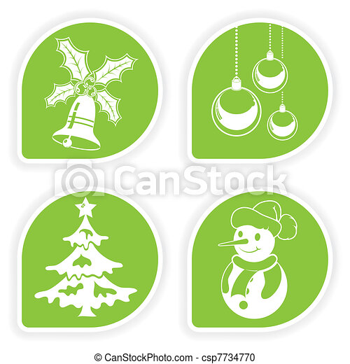 Collect Christmas Sticker - csp7734770