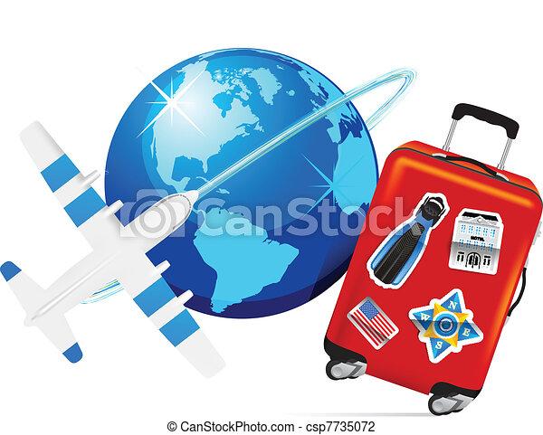 illustration vecteur de avion voyage valise avion
