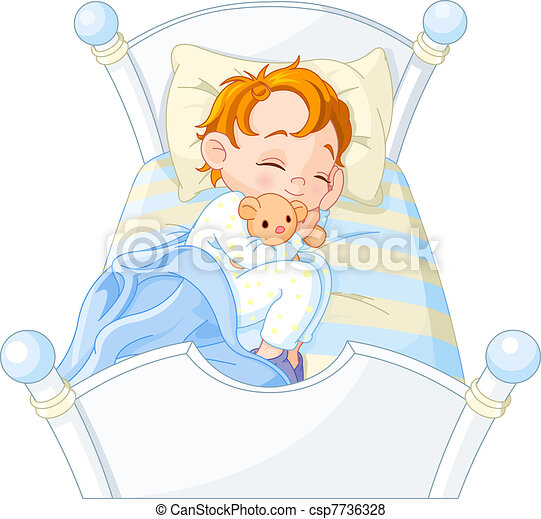 Little boy sleeping - csp7736328