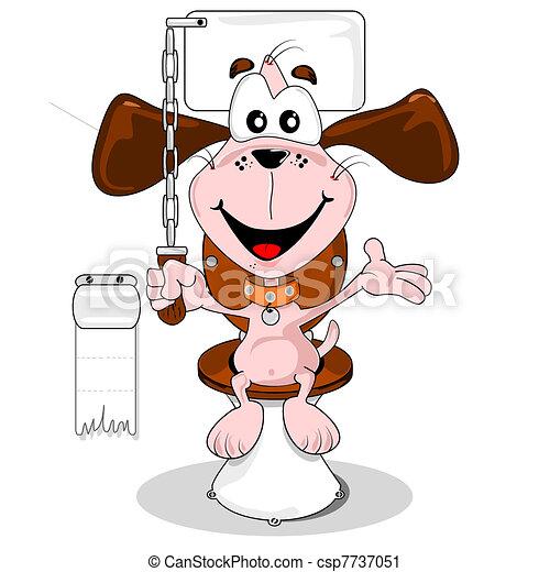 Clip art vecteur de dessin anim chien maison entra n s ance sur les csp7737051 - Foto de toilette ...
