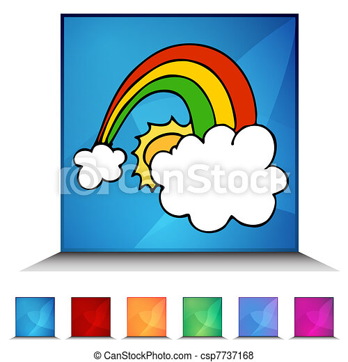 Lucky Rainbow Shiny Button Set - csp7737168