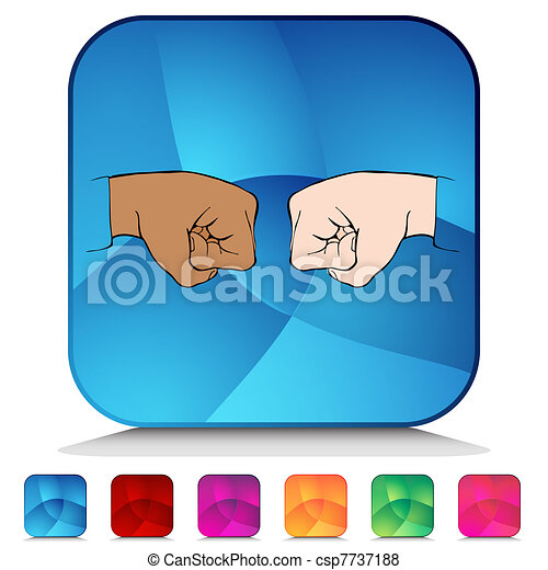 Vector of Fist Bump Shiny Button Set - An image of a Fist Bump ...