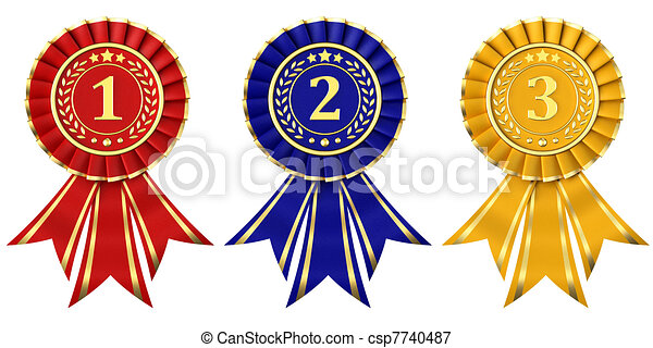 2nd place stock vector illustration royalty free 2nd place clipart - Stock Illustrations Of Ribbon Awards For First Second And