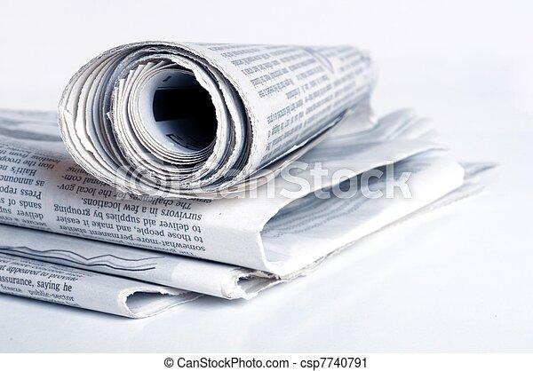 newspaper - csp7740791
