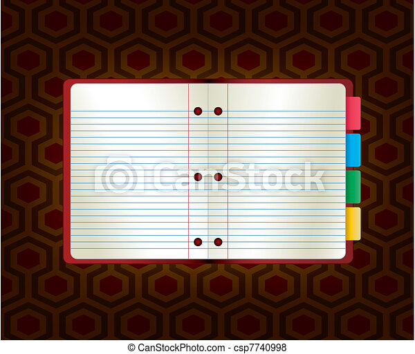 Vector illustration abstract paper notebook. Template for web site or blog. - csp7740998