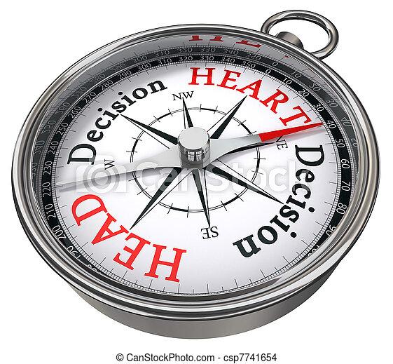 heart vs head decision dilemma - csp7741654