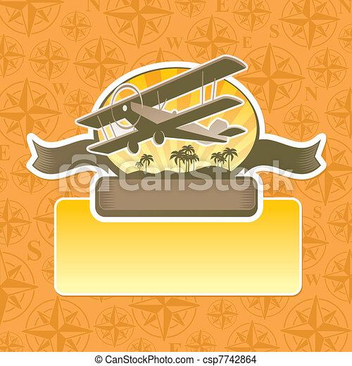 Vector adventure and travel emblem - csp7742864
