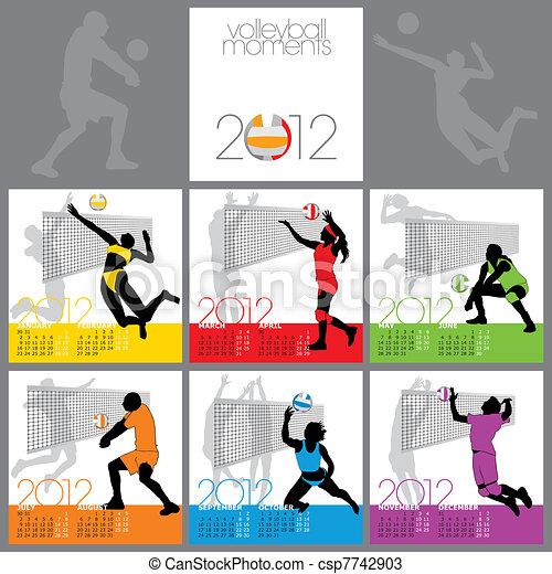 Volleyball Moments 2012 Calendar Te - csp7742903
