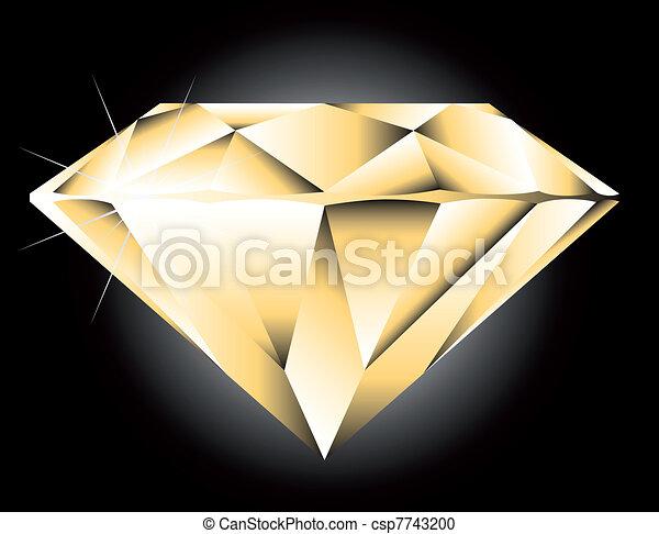 Vector round brilliant cut diamond perspective - csp7743200