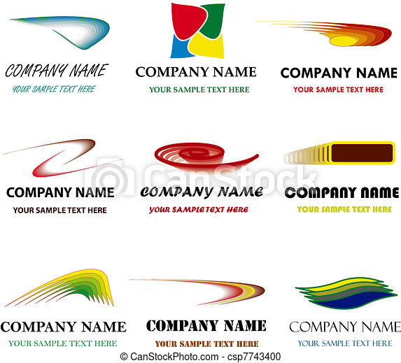 Set of corporate vector branding templates. Just place your own brand name. - csp7743400