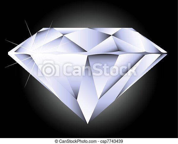 Vector round brilliant cut diamond perspective - csp7743439