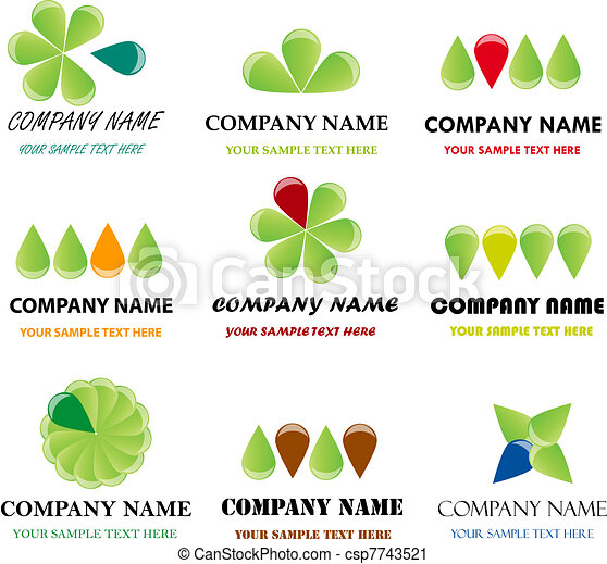 Set of corporate vector branding templates. Just place your own brand name. - csp7743521