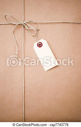 brown paper parcel  - csp7743776