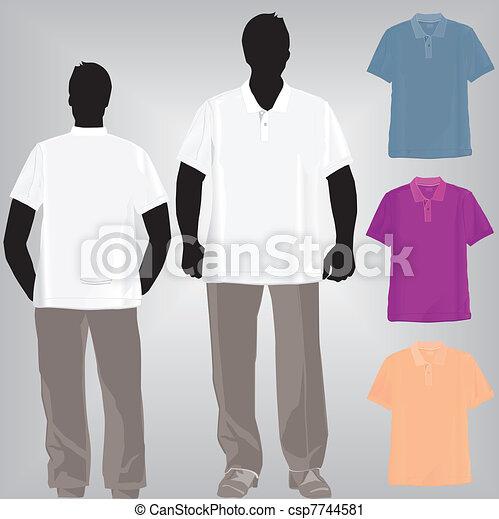 Shirt polo or tshirt template  - csp7744581