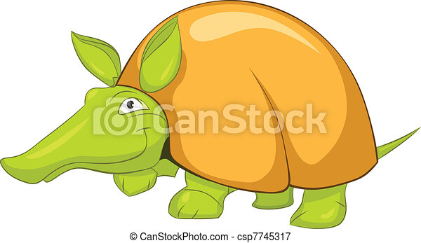 Cartoon Character Armadillo - csp7745317