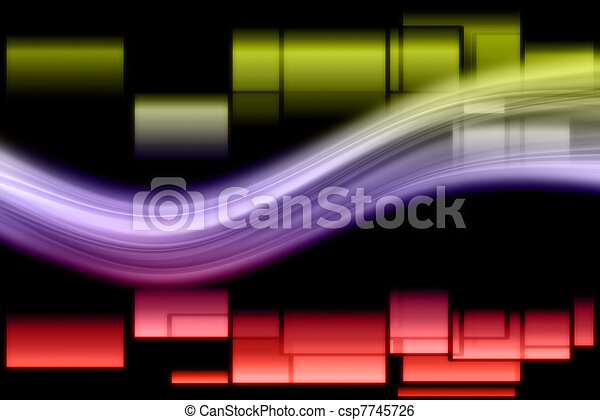 Fantastic abstract elegant and powerful background design illustration - csp7745726