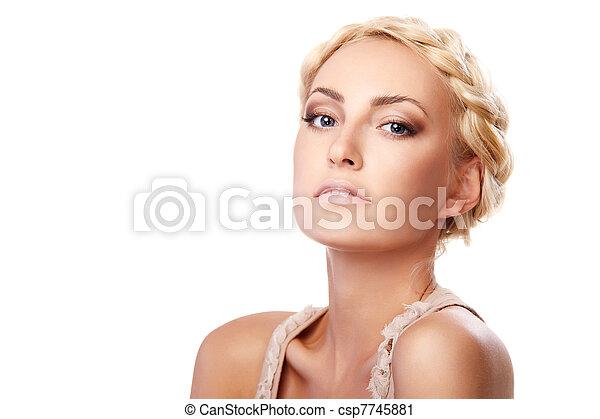 Lady with braid - csp7745881