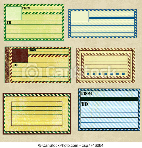 Vintage Paper Address Labels - csp7746084