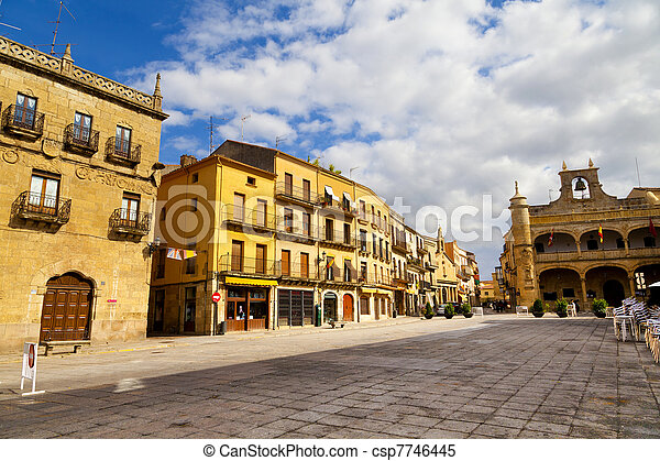 Plaza Mayor Square, Ciudad Rodrigo, Salamanca - csp7746445