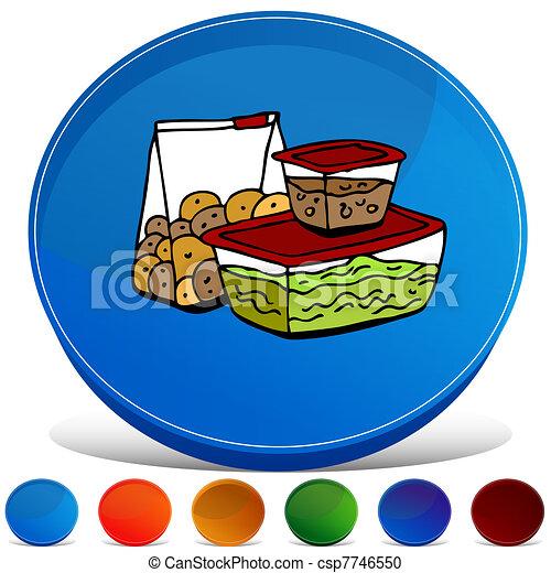 Leftover Food Storage Container Gemstone Button Set - csp7746550