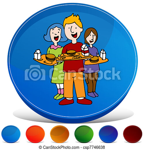 School Lunch Program Gemstone Button Set - csp7746638