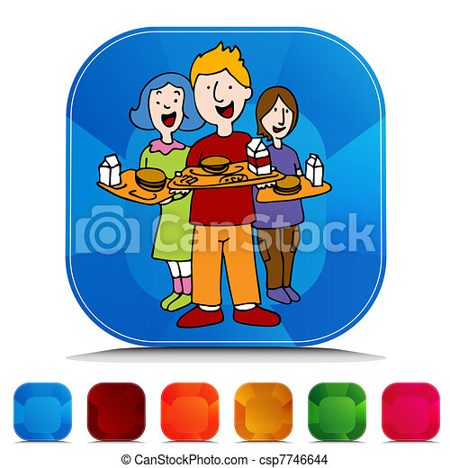 School Lunch Program Gemstone Button Set - csp7746644