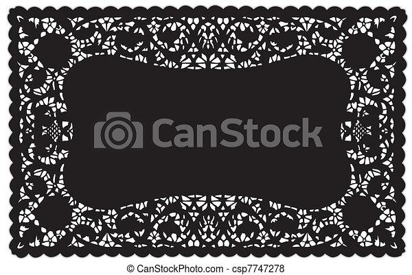 Lace Doily Placemat - csp7747278