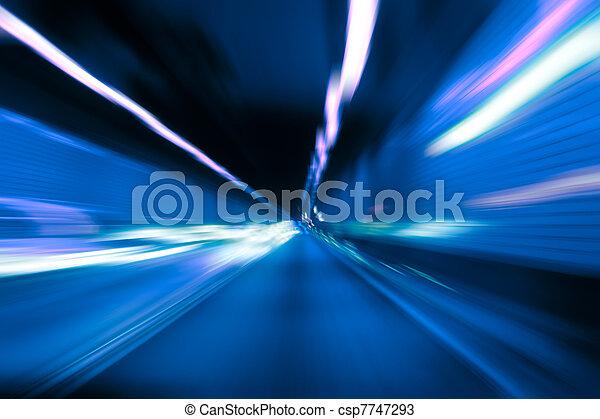 Abstarct motion blur in tunnel - csp7747293
