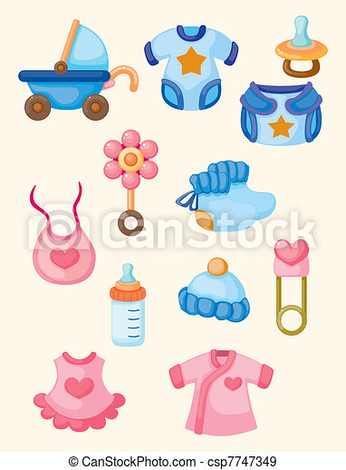 cartoon baby good icon set - csp7747349