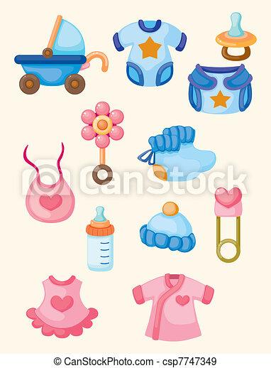cartoon baby good icon set - csp7747349