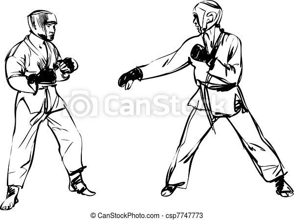 Karate Kyokushinkai  martial arts  sports - csp7747773