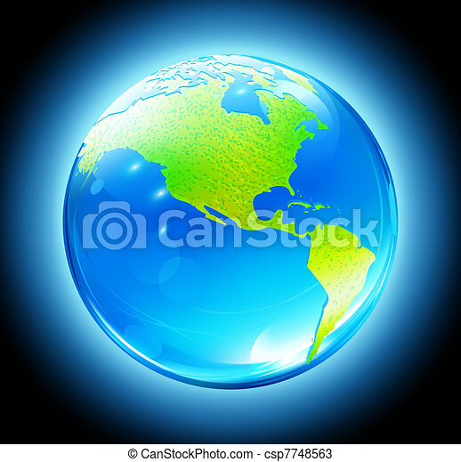 Glossy Earth Map Globe - csp7748563