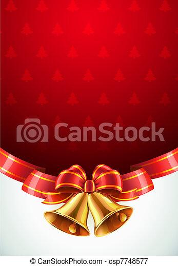 Kerstmis, Decoratief, achtergrond - csp7748577