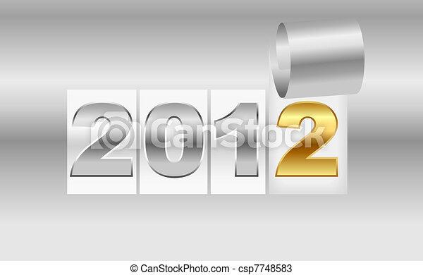New Year's  2012 metallic backgroun - csp7748583