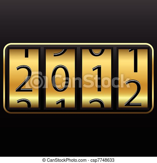 lucky new year change - csp7748633