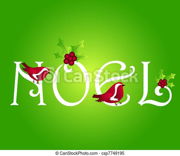 Noel greeting - csp7749195