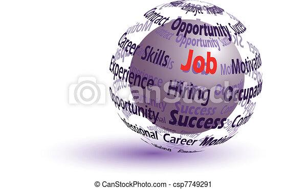 Job concept sphere - csp7749291