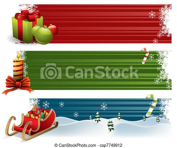 Christmas banners - csp7749912