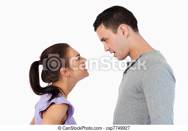 Young couple having relationship problems - csp7749927