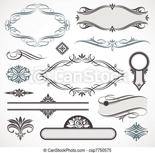 Vector design elements & page decor - csp7750575