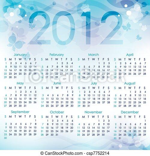 calendar 2012 - csp7752214