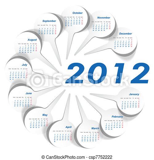 Calendar 2012 year - csp7752222