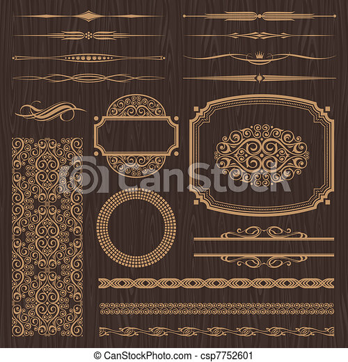 Vector set of ornate page decor - csp7752601