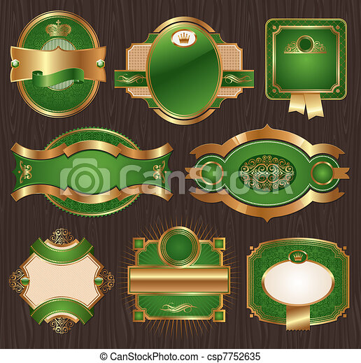 Luxury ornate framed labels - csp7752635