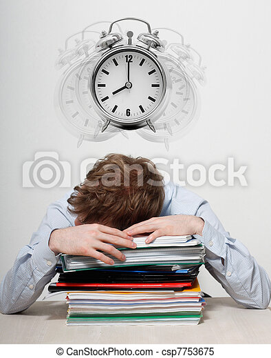 Employee sleeping - csp7753675