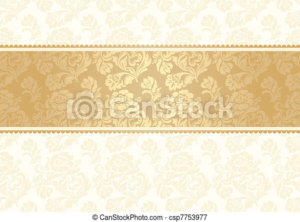 Flower background with lace, seamle - csp7753977